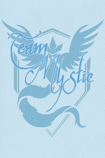 Team Mystic Blue Video Gaming Poster 12x18