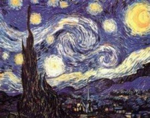 Vincent Van Gogh Starry Night Art Print Poster 22x34