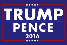 Donald Trump Mike Pence President 2016 Campaign Poster 12x18