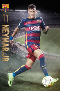 FC Barcelona Neymar Jr Action 15/16 Soccer Sports Poster 24x36