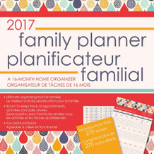 2017 Family Planner 2017 16 Month Wall Calendar 12x12