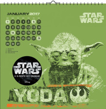Star Wars Saga 2017 16 Month Wall Art Calendar 12x12