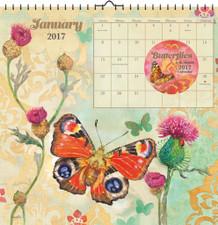 Butterflies Evelia 2017 16 Month Wall Art Calendar 12x12