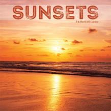 Sunsets 2017 16 Month Wall Calendar 12x12