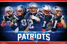 New England Patriots Team 2016 NFL Football Sports Poster 22x34