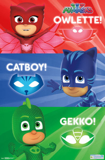 PJ Masks Trio TV Show Poster 22x34