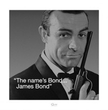 James Bond iQuote Poster - 15.75x15.75