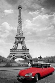 Paris Kiss Photo Art Print Poster 36x24