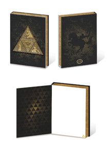 Legend of Zelda Metal TriForce Video Gaming Premium Journal Notebook 6x8