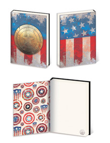 Captain America Metal Shield Premium Comic Book Journal Notebook 6x8