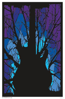 Woods Guitar Music Blacklight Poster 22x34