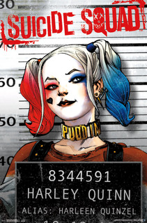 Suicide Squad Harley Quinn Mugshot Movie Poster 22x34