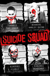 Suicide Squad Team Mugshot Movie Poster 22x34