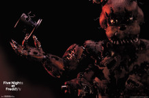 Five Nights At Freddys Nightmare Freddy Video Gaming Poster 34x22