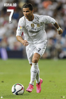Real Madrid Cristiano Ronaldo Soccer Football Sports Poster 24x36