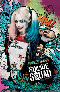 Suicide Squad Harley Quinn Stars Movie Poster 22x34
