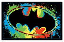 Batman Logo Comic Book Blacklight Poster 22x34