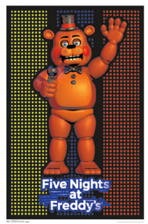 Five Nights At Freddys Video Gaming Blacklight Poster 24x36