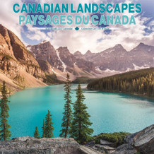 Canadian Landscapes Bilingual 2017 16 Month Wall Calendrier Calendar 12x12