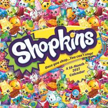 Shopkins 2017 16 Month Wall Calendar 12x12