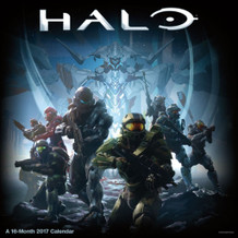 Halo 2017 16 Month Wall Calendar 12x12
