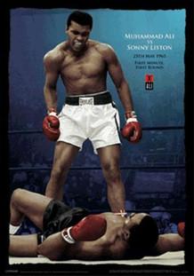 Muhammad Ali vs. Liston Color Lenticular 3D Lenticular 3D Poster 18.5x26.5