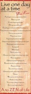 Dalai Lama A to Zen Poster Motivational Poster 12x36
