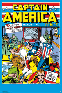 Captain America Comics 1 Comic Book Art Poster 24x36