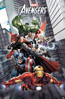 Avengers Assemble Comic Book Poster 24x36