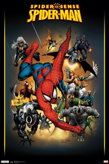 SpiderMan Adversaries Comic Book Art Poster 24x36
