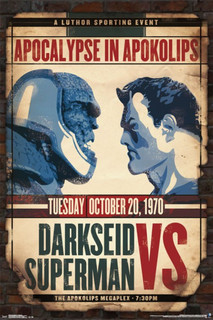 Darkseid vs Superman Comic Book Poster 24x36
