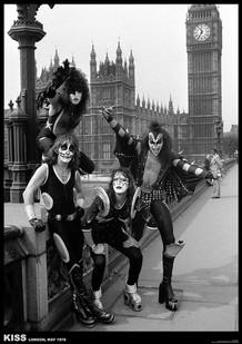 Kiss London 1976 Music Poster 23.5x33