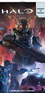 Halo 2017 16 Month Mini Poster Calendar 6x12
