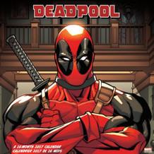 Deadpool 2017 16 Month Wall Calendar 12x12