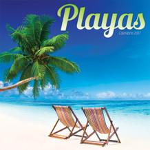 Playas Beaches Spanish 2017 16 Month Wall Calendar 12x12
