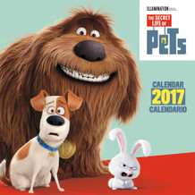 The Secret Life of Pets Spanish 2017 16 Month Wall Calendar 12x12