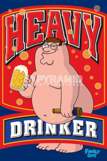 Family Guy Heavy Drinker Funny Poster 24x36