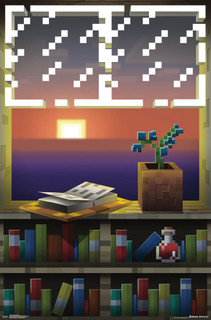 Minecraft Window Video Gaming Poster 22x34