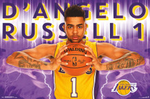Los Angeles Lakers DAngelo Russell NBA Basketball Sports Poster 22x34