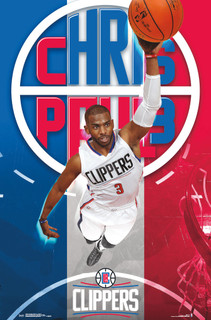 Los Angeles Clippers Chris Paul NBA Basketball Sports Poster 22x34