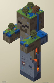 Minecraft Zombie Swamp Video Gaming Poster 22x34
