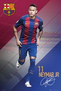 FC Barcelona Neymar Jr 16/17 Soccer Sports Poster 24x36