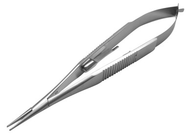 Castroveijo Needle Holder, Straight w/Lock Del. Jaws