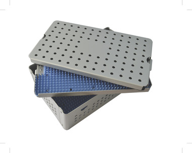 Aluminum Sterilization Tray Large 3.5'' Deep Double Layer Size 10'' x 6'' x 3.25'' (CalTray A4200)