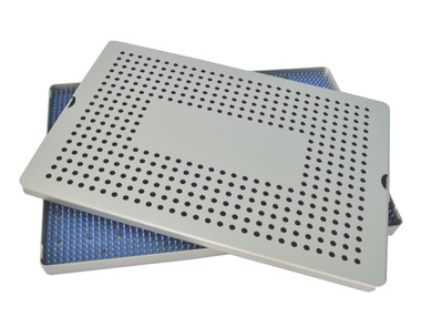 Aluminum Sterilization Tray Extra Large Single Layer 15'' x 10'' x 0.75'' (CalTray A7000)