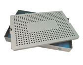 Aluminum Sterilization Tray Extra Large Deep Single Layer 15'' x 10'' x 1.5'' (CalTray A7050)