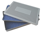 Aluminum Sterilization Tray Extra Large Deep Double Layer 15'' x 10'' x 1.5'' (CalTray A7100)