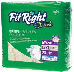 FitRight Stretch Ultra Adult Diapers Package