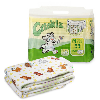 Crinklz Animal Print Adult Baby Diapers Packaging