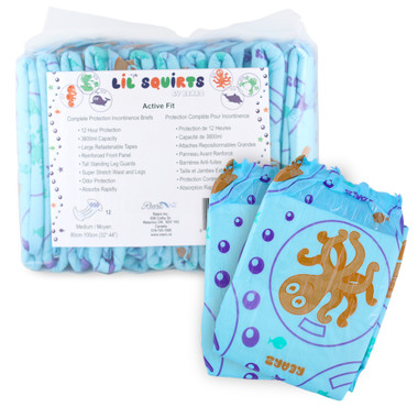 Lil' Squirts Nautical Adult Baby Diapers